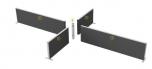 Sestava paravánů pro oddělení čtyř pracovišť TPA sestava 01 (80x160x4 cm)