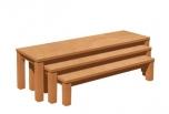 Set tří laviček s umakartovým sedákem- U25set
