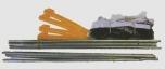 Síť na badminton HOBBY s tyčemi - 0126