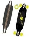 Skateboard LONGBOARD MAPLE SURF - 23343