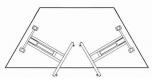 Sklopný stůl lichoběžník 140x80 cm