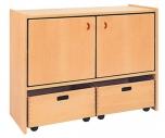 Skříňka dvoudveřová s volnými zásuvkami MIKI - M14.110