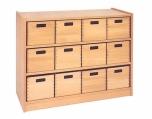 Skříňka s vloženými policemi a volnými zásuvkami MIKI - M11.012