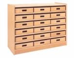 Skříňka s vloženými policemi a volnými zásuvkami MIKI - M11.013