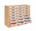 Skříňka s policemi a plastovými zásuvkami MIKI - M11.101