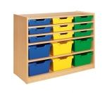 Skříňka s vloženými policemi a plastovými zásuvkami MIKI - M11.301
