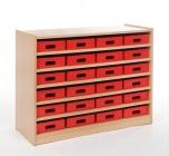 Skříňka s vloženými policemi a volnými zásuvkami MIKI - M11.014