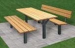 Souprava lavičky a stůl Karin