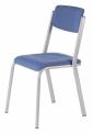 SPARTA pevná stohovatelná židle celočalouněná