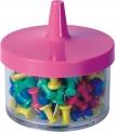 Špendlíky připínáčky plastové barevné 100 kusů