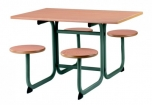 STABIL jídelní stůl čtyřmístný obdélníkový se sedáky 1114