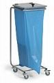 Pojízdný stojan koš na odpadkové pytle s víkem na kolečkách 4207