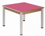 Stůl 80 x 80 cm výškově stavitelné nohy 36 - 52 cm - x56.33652