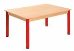 Obdélníkový dřevěný stůl s rektifikační patkou 80 x 60 cm - x66.2hh.color