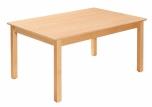 Dětský obdélníkový dřevěný stůl standard s masivní podnoží 120 x 80 cm - x16.1XX.