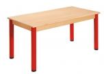 Obdélníkový dřevěný stůl s rektifikační patkou 120 x 60 cm - x66.0XX.barva