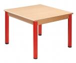 Čtvercový dřevěný stůl s rektifikační patkou 80 x 80 cm - x66.3hh.color