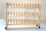 Sušák obuvi pro 36 párů, dřevěný 0D113