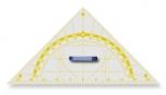 Tabulový trojúhelník s úhloměrem, plexisklo, přepona 60 cm