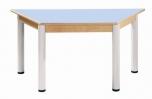 Trapézový stůl 120 x 60 cm výškově stavitelné nohy 36 - 52 cm - 56.43652