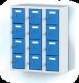 Trojdílný plechový, dvanácti boxový minibox na soklu MB 20 3 4 O (73,9 cm)