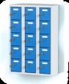 Trojdílný plechový, patnácti boxový minibox na soklu   MB 20 5 3 O (91,1 cm)