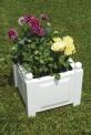Truhlík na rostliny, čtvercový - bílý