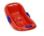 Tvarovaný bob pro malé děti Snow Flipper de Luxe - červená