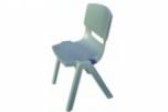 Učitelská velká plastová židle šedá