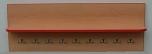 Univerzální odkládací věšáková police s háčky 150 cm