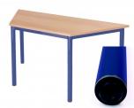 Univerzální stůl pevný lichoběžníkový 160x80 cm