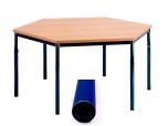 Univerzální stůl pevný šestiúhelníkový průměr 120 cm