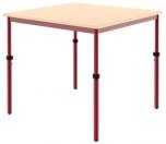 Univerzální stůl výškově stavitelný 80x80 cm