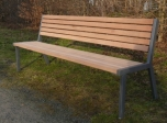 Venkovní lavička Bolzano - kovová lavička