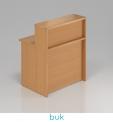 VISIO Dřevěný pult s nástavbou NLKA08 - DÁREK
