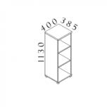 VISIO Kancelářský regál S340
