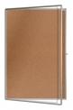 Vitrína KO 75x100 cm korková prosklená uzamykatelná