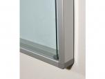 Vitrína závěsná bílá emailová magnetická uzamykatelná 70x100 cm