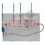 Vodní model elektrického obvodu podle prof. Plapperta