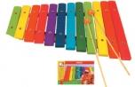 Dětský dřevěný hudební nástroj xylofon Bino 3786554