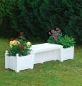 Zahradní lavice BERLÍN bílá