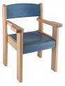 Židle s područkou TIM II - mořený sedák a opěrák - C37.0XX