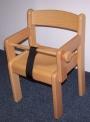Židle TIM s područkou - přírodní - ZÁBRANA a POPRUH - 17.0hh.00/P-Z+P